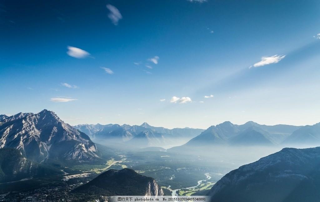 广阔视野山景 野外风光 风景山 大气背景 山峰 摄影