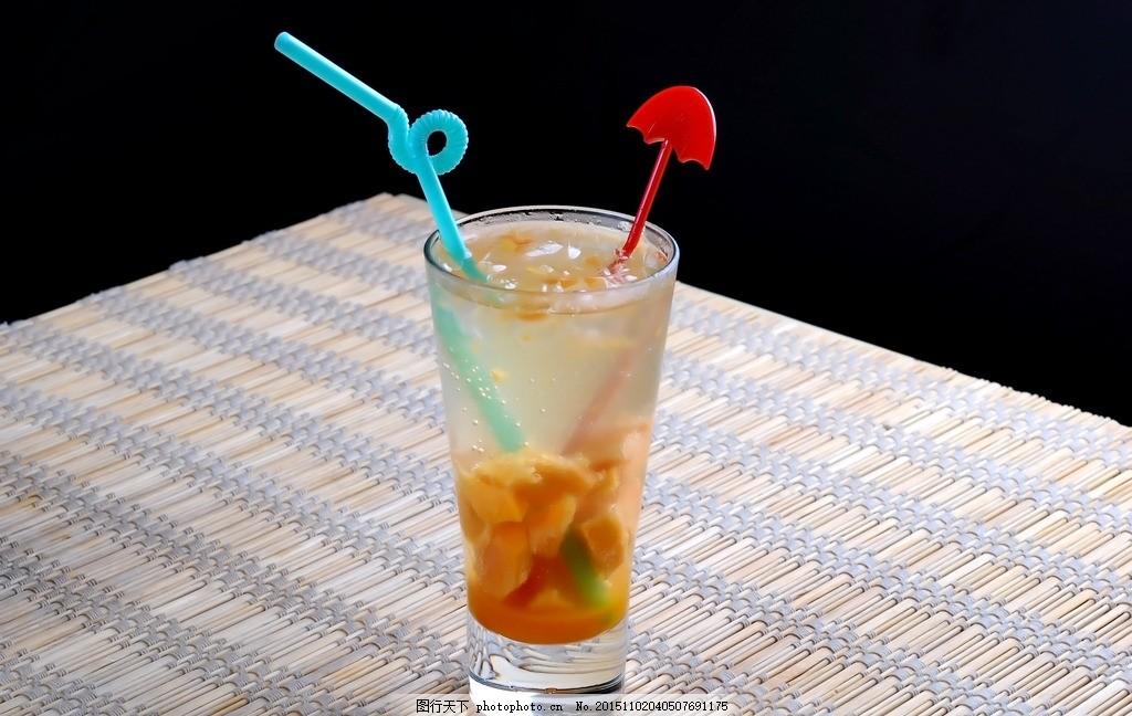 设计图库 餐饮美食 饮料酒水  芒果苏打水 苏打水 芒果苏打 芒果汁 冰