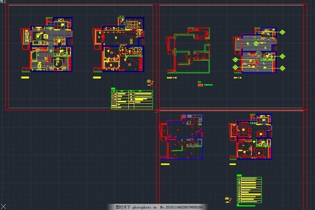 公寓楼电气施工电路分布图 公寓楼 电气施工 电路分布 电气图纸 楼房