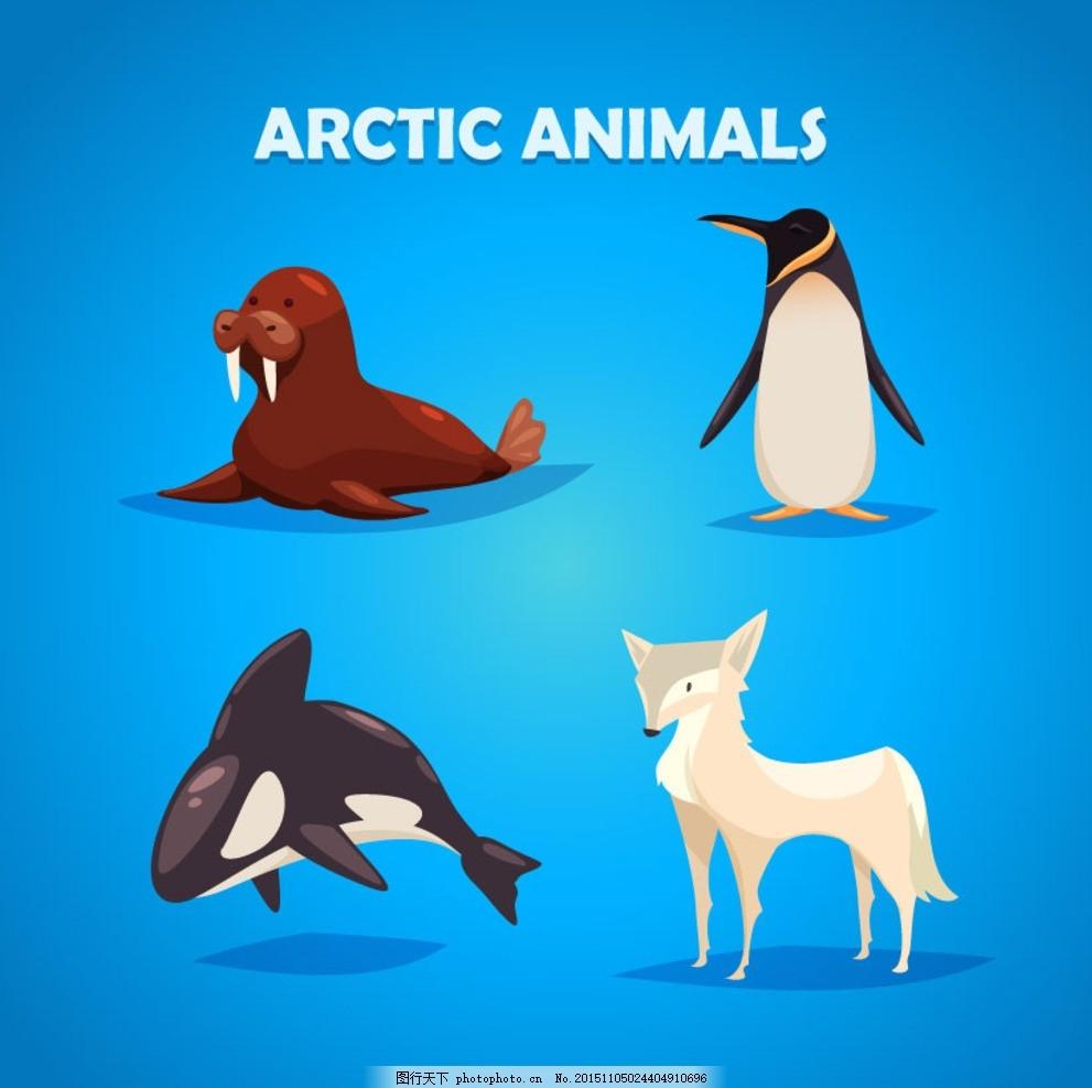 南极卡通动物