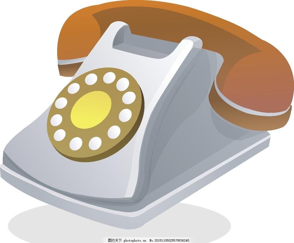 电话机 卡通 广告素材 剪纸 简笔画 手机 老式电话 广告设计 cdr 设计