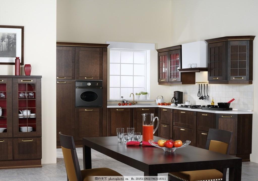 廚房餐桌圖片 廚房餐桌      餐桌 桌子 木桌 飯桌 櫥柜子 壁柜 廚具