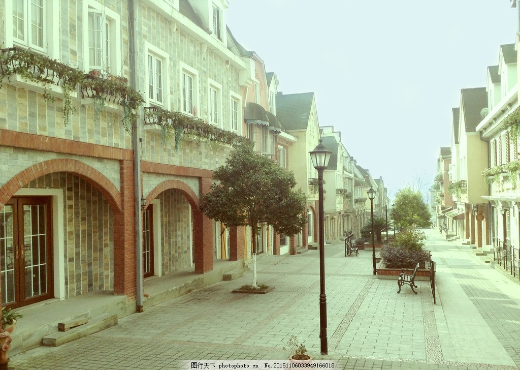 欧式小镇 法式风情 英式建筑 唯美 乡村 街道 城堡 风格建筑 房子