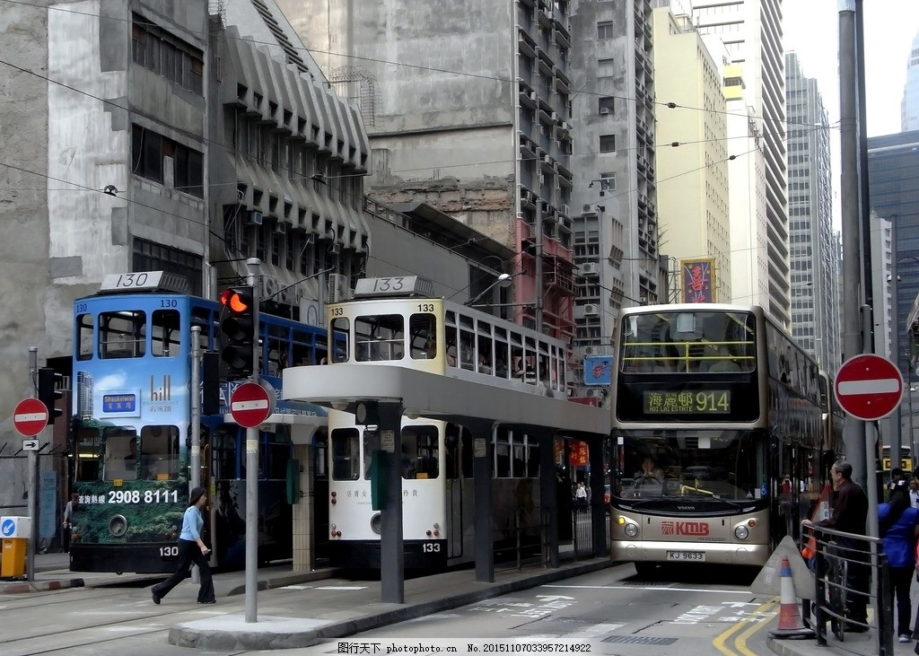 香港汽车站 马路 香港风景 香港风光 人文风景 有轨电车 叮叮车
