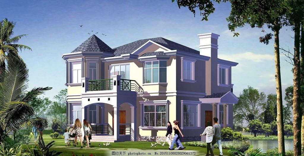 平顶二层别墅 设计图展示