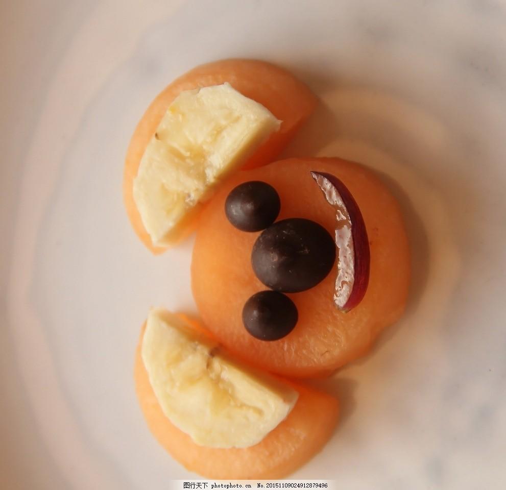 创意水果拼图 创意蔬菜 粘贴画 儿童画 儿童贴画 西瓜 西柚 豆子