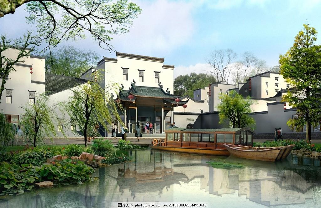 设计 建筑 小区 规划 风景 小河 psd ps 高精度 分层 300dip 素材 源