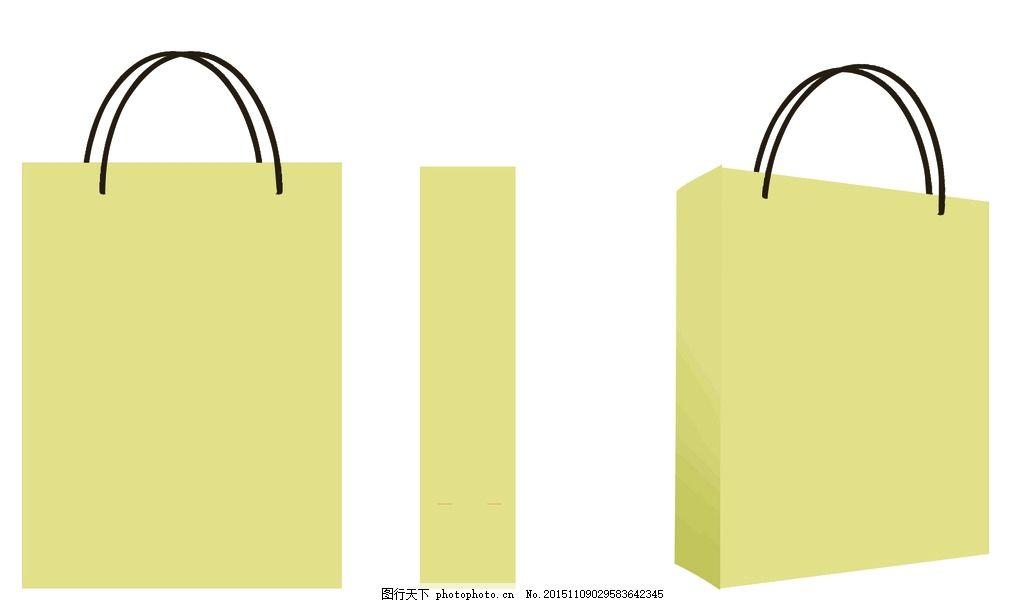 手提袋  纸袋  礼品袋 手提袋模板 礼品袋模板 七彩花