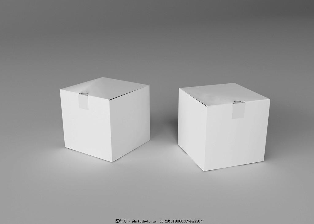 可装小礼物 一款纯白色 小盒子 可装小礼物 样机素材 盒子 白色盒