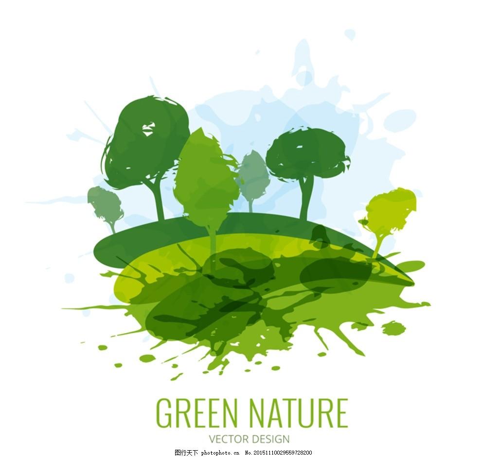 绿色自然 绿色 创意 绿色建筑 自然风景 创意风景 绿色风景设计 自然