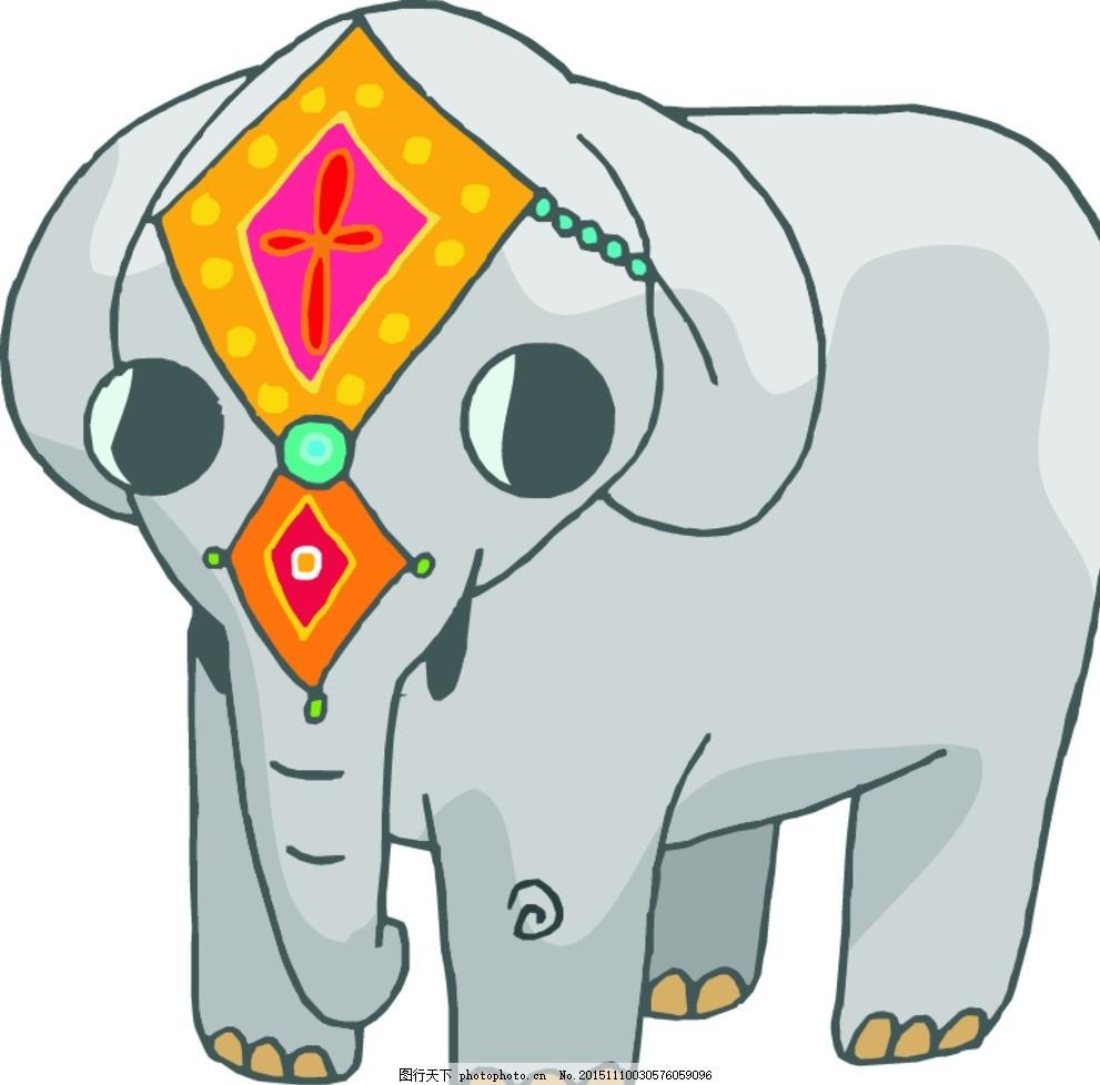 大象 卡通大象 小象 可爱小象 卡通动物