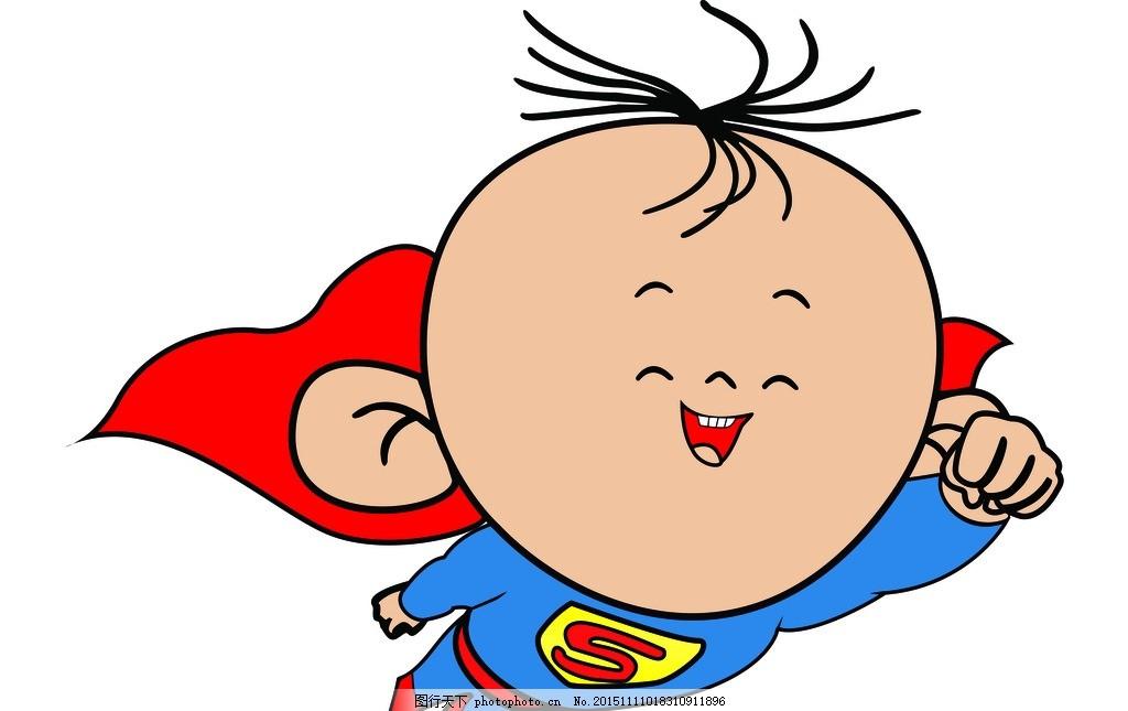 图图 超级英雄 胡图图 糊图图 大耳朵图图 钢笔画 设计 动漫动画 动漫