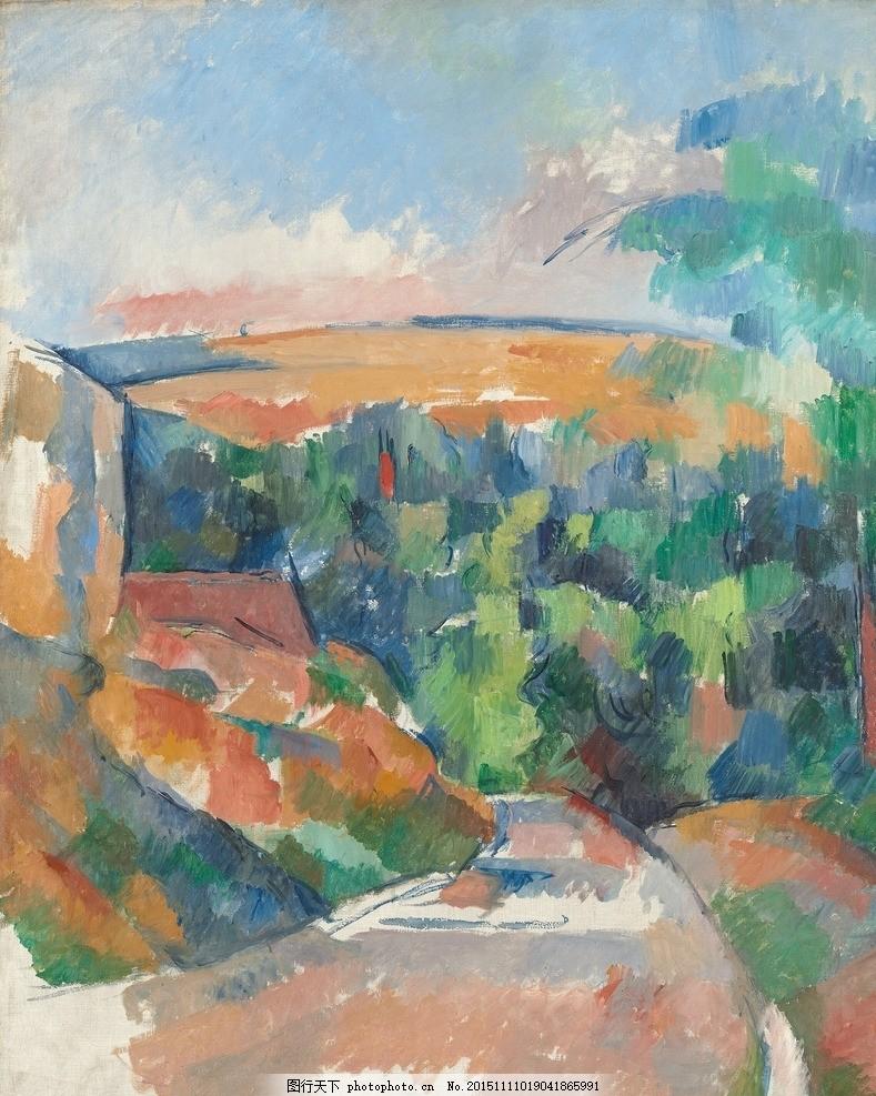保罗塞尚油画 油画素材 素材 油画素材画家 国外油画素材 油画风景