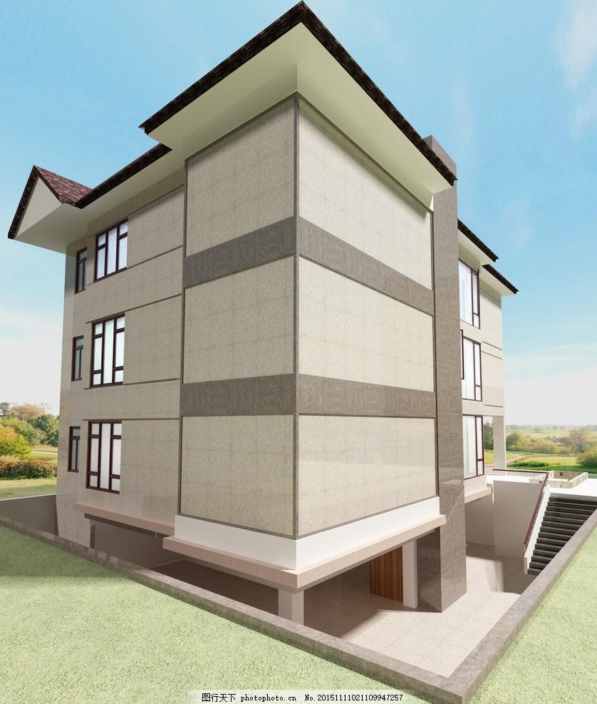 外墙 外立面 干挂外墙 别墅 抛光砖效果图 设计 3d设计 3d作品 300dpi