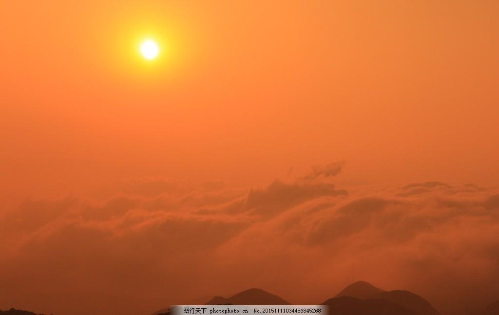 日落 红日 日出 红霞 云海日落 风景摄影