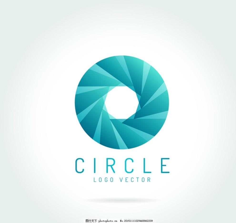 创意圆环标志矢量素材 图标 叠影 装饰 卡片 插画 背景 海报