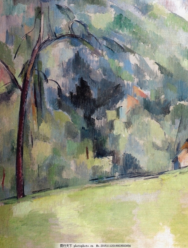保罗塞尚油画画作品 油画素材 油画素材画家 国外油画素材 油画风景
