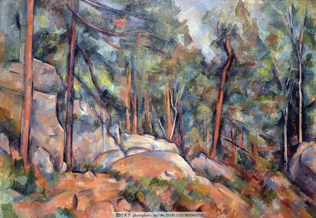 塞尚油画画作品 油画素材 素材 油画素材画家 国外油画素材 油画风景