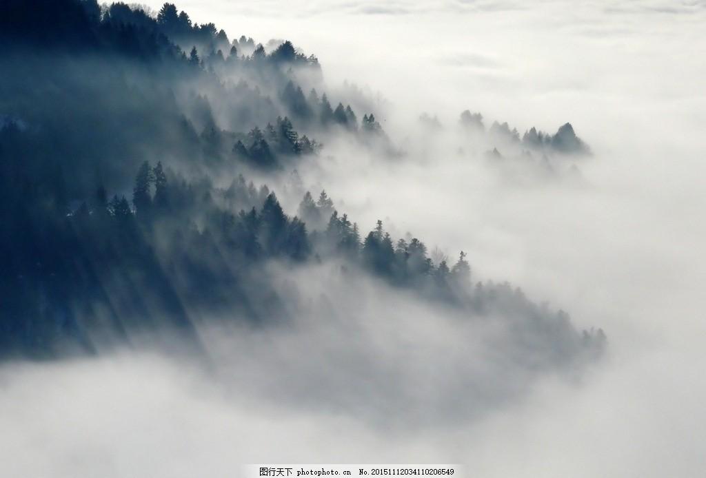 古典风格高山云雾 梦幻 淘宝 风景摄影图