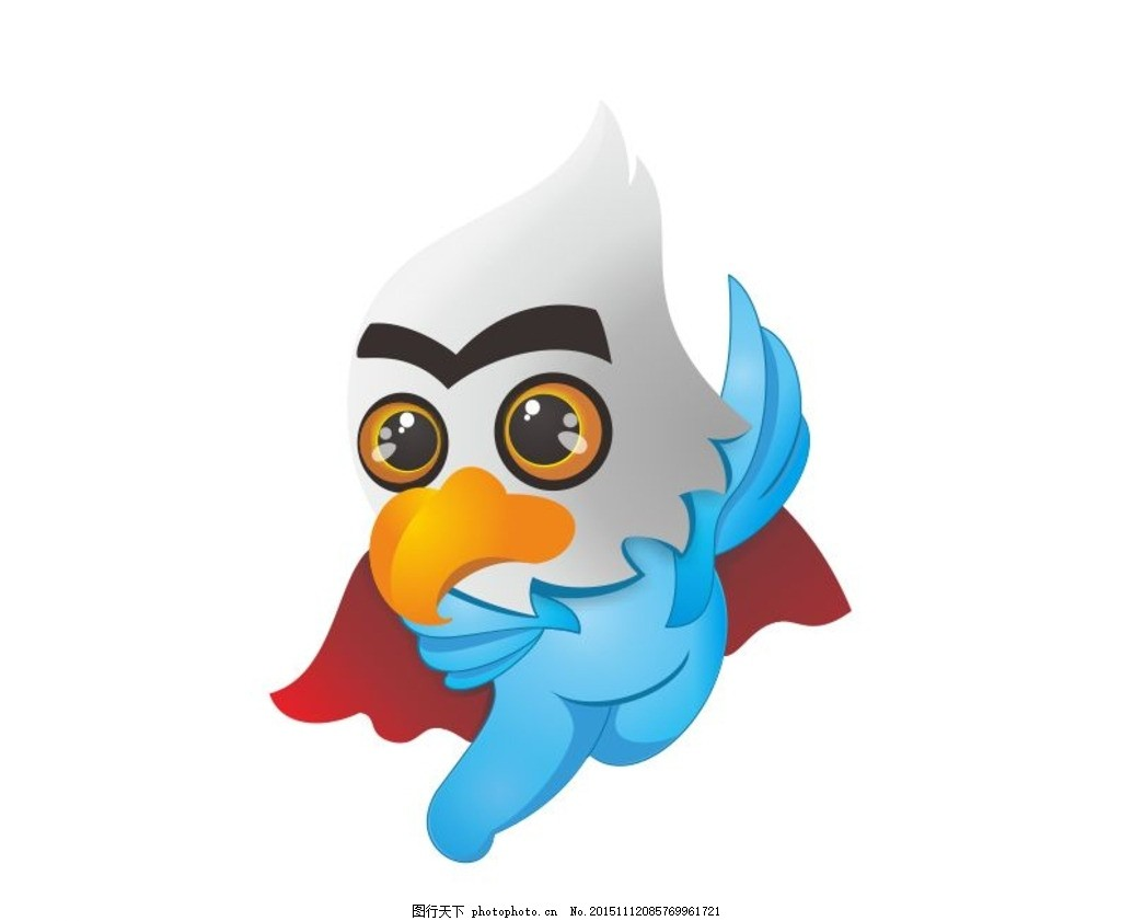 设计图库 海报设计 商业海报  鹰 卡通鹰 吉祥物 小学生 徽章 鸟 拟人