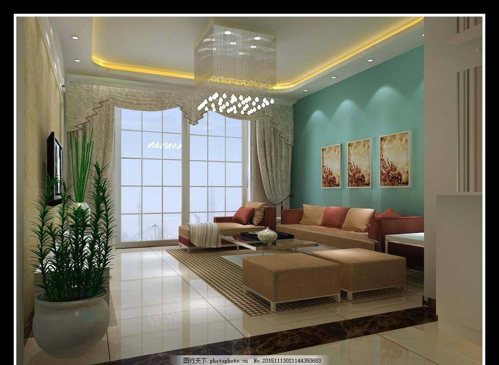 客厅设计 走廊设计 装修效果图 3d设计 室内装修 效果图设计