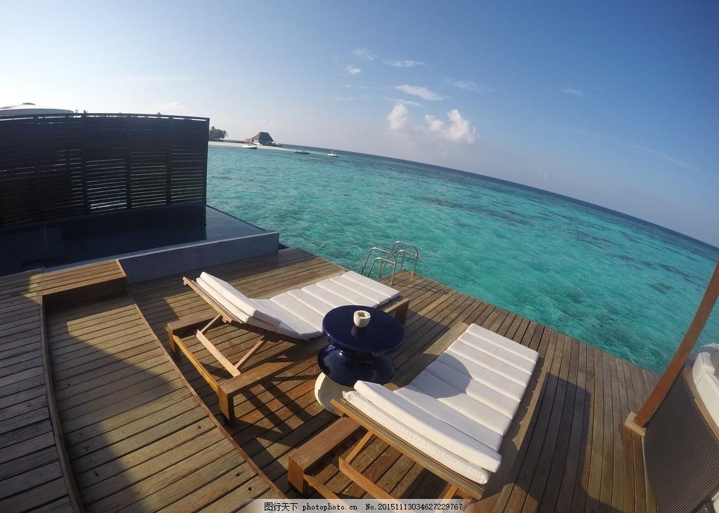 水上屋 水上别墅 马尔代夫海景 马尔代夫海滩酒店 摄影 自然景观 风景