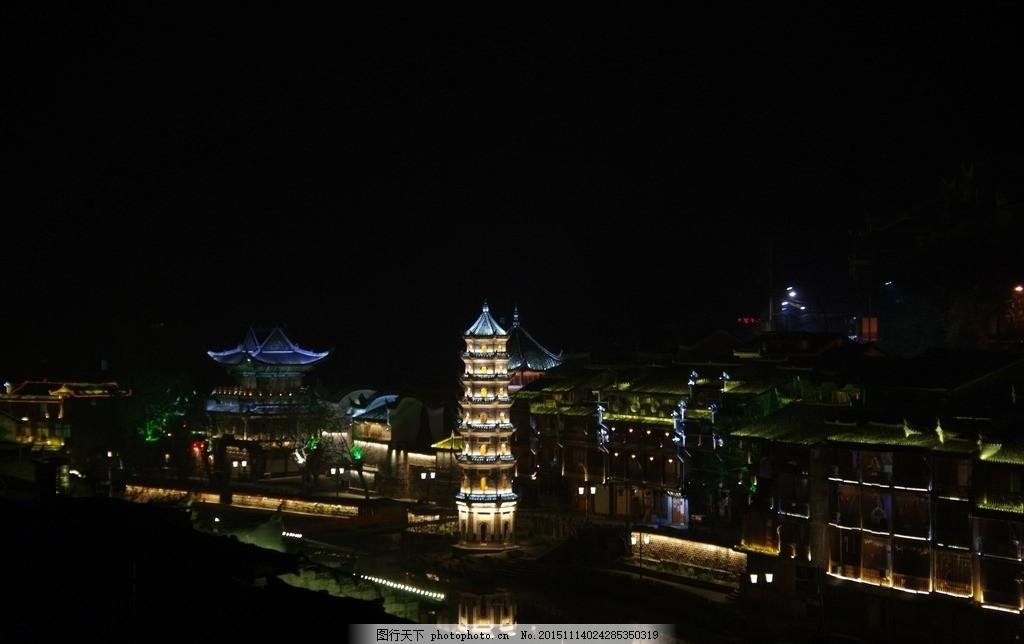 杜甫江阁夜景 湖南 长沙 湘江 风光带 杜甫 旅游 夜景 景点 楼阁 星沙