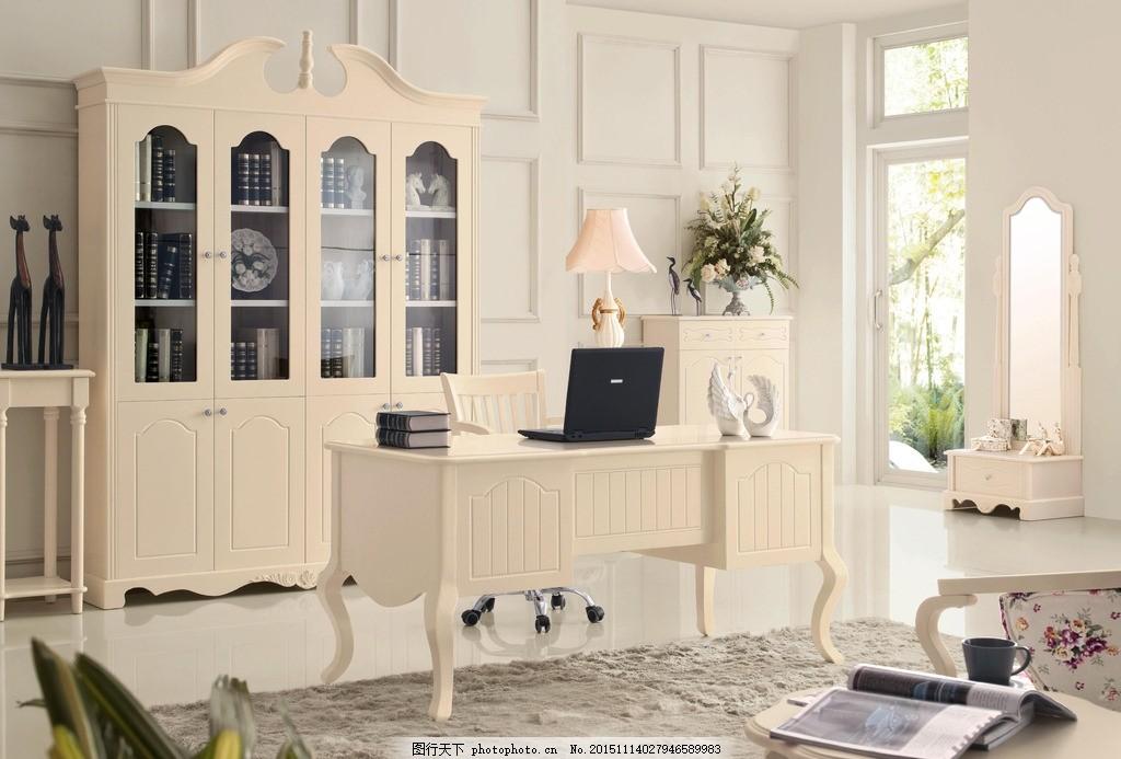 书柜 欧式书柜 书桌 电脑桌 书台 写字台 电脑台 办公台 欧式家具