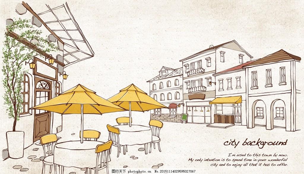 卡通咖啡屋 咖啡屋 素描 手绘 咖啡 咖啡馆 设计 广告设计 广告设计