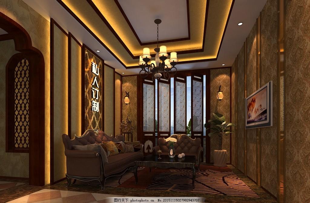 东南亚美容院接待区 中式 美式 顾问区图片
