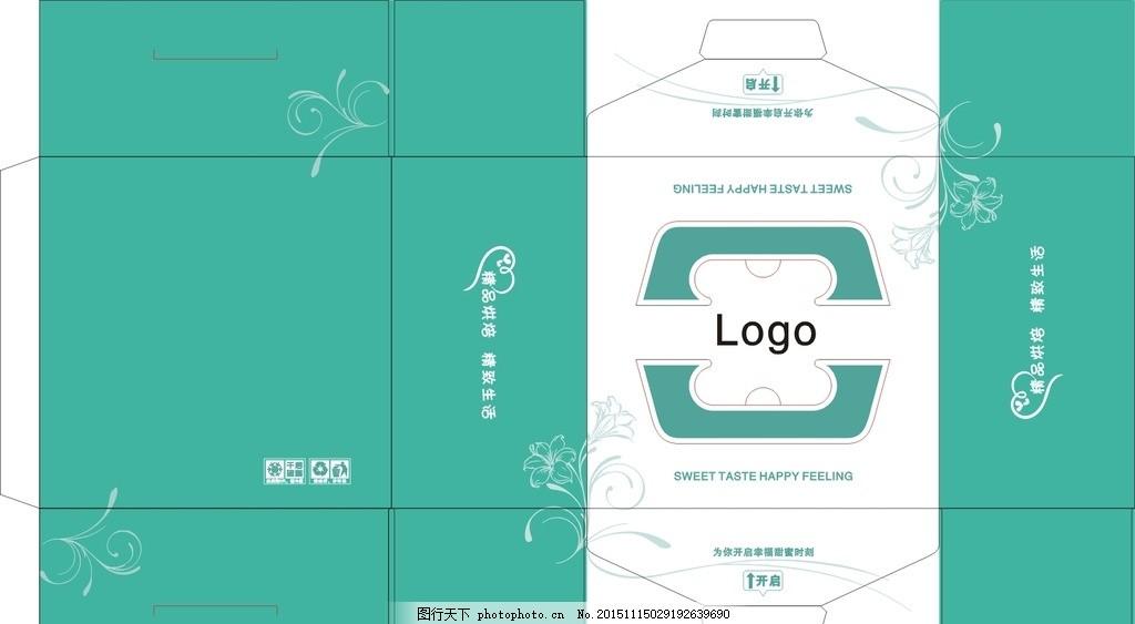 包装盒 点心盒 烘焙包装 花纹 底纹 蛋糕素材 设计 广告设计 包装设计