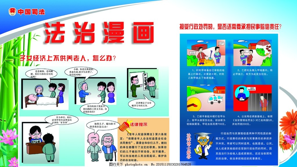 法制教育 儿童安全 法制宣传 社区 小区 物业 设计 广告设计 展板模板