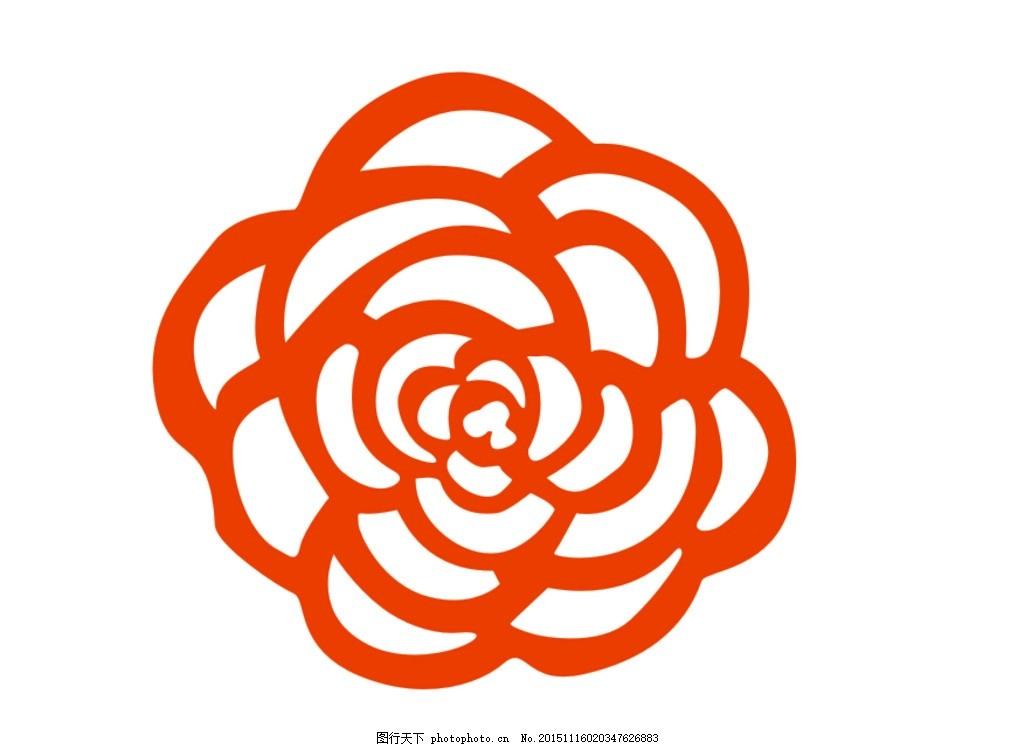 花矢量 花 玫瑰花 矢量 红色 简单 花朵 设计 底纹边框 花边花纹 cdr