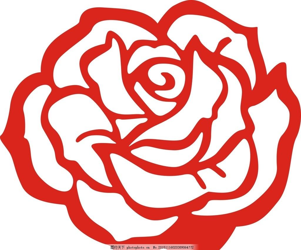 玫瑰花 玫瑰 鲜花 矢量 花卉 浪漫 图案 设计 底纹边框 花边花纹 cdr