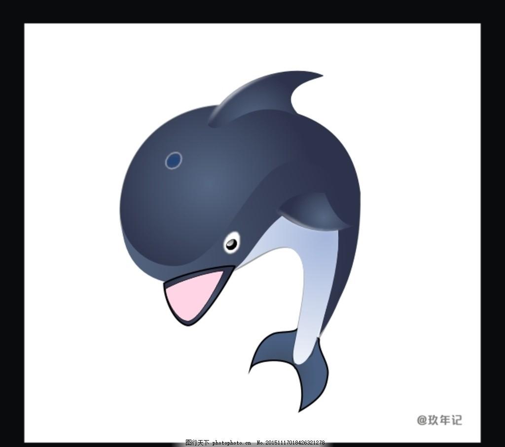 海豚 海洋 动物 海水 游泳
