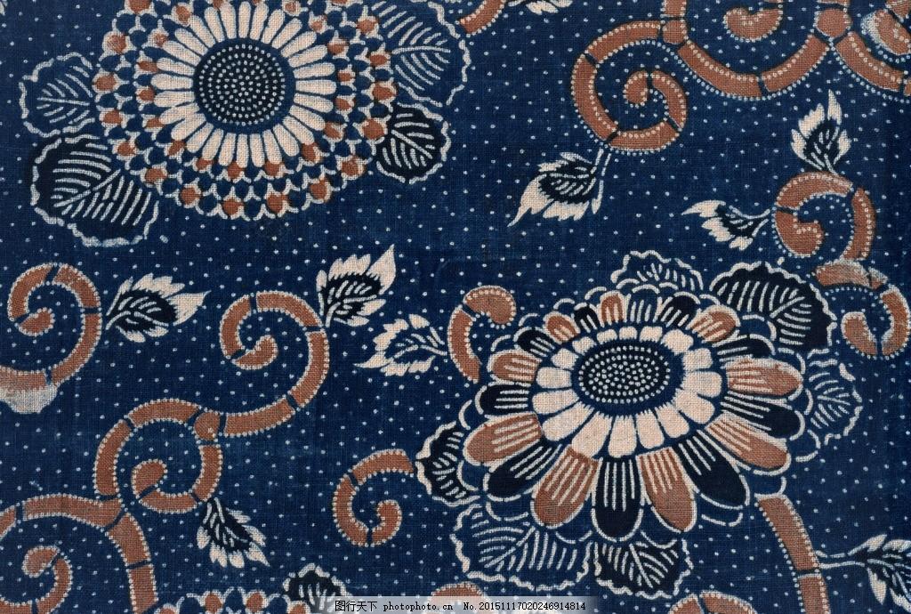 蓝印花布 纹理 纹样 传统 中式 古典 染织 印染 传统纹样 传统工艺