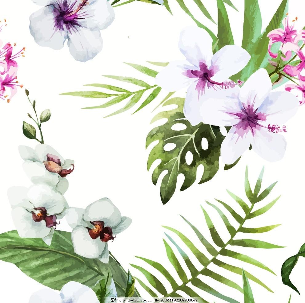 水墨水仙花 布匹印花 纺织品图案 花型 面料设计 抽象花 里料花纹