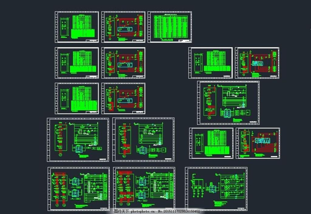 软启动器电气控制原理图 电缆井 变频控制 强电系统 弱电系统 消防