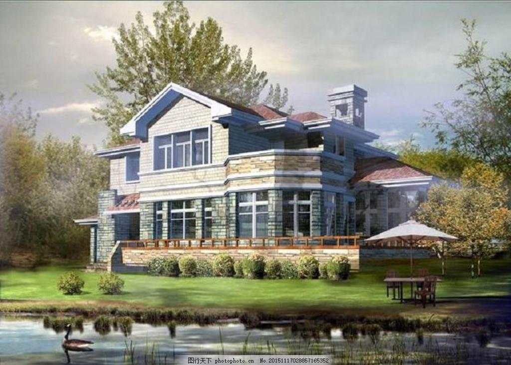 二层野外休闲别墅设计施工图