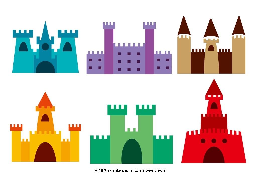 卡通城堡 可爱城堡 城堡背景 城堡 旅游背景 卡通背景 设计 广告设计