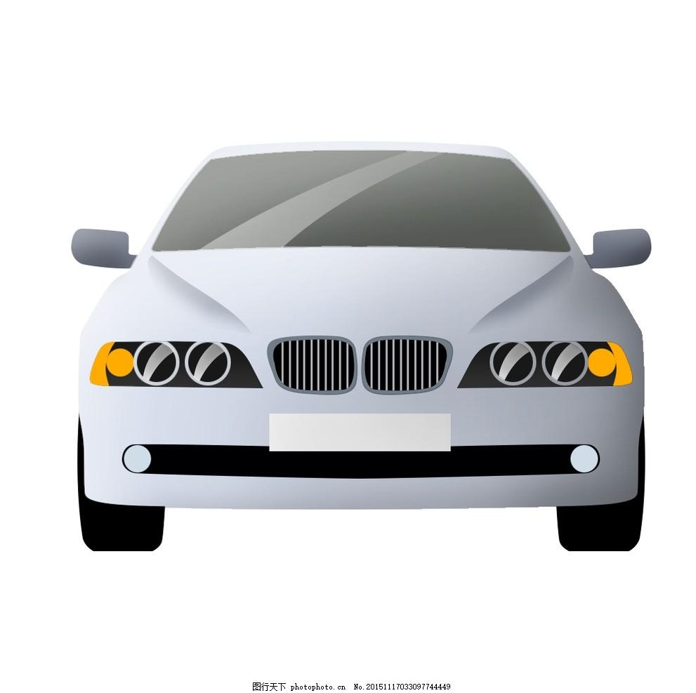 宝马汽车 宝马 bmw 正面 简单 干净 正视图 白色汽车 驾驶 图标 设计