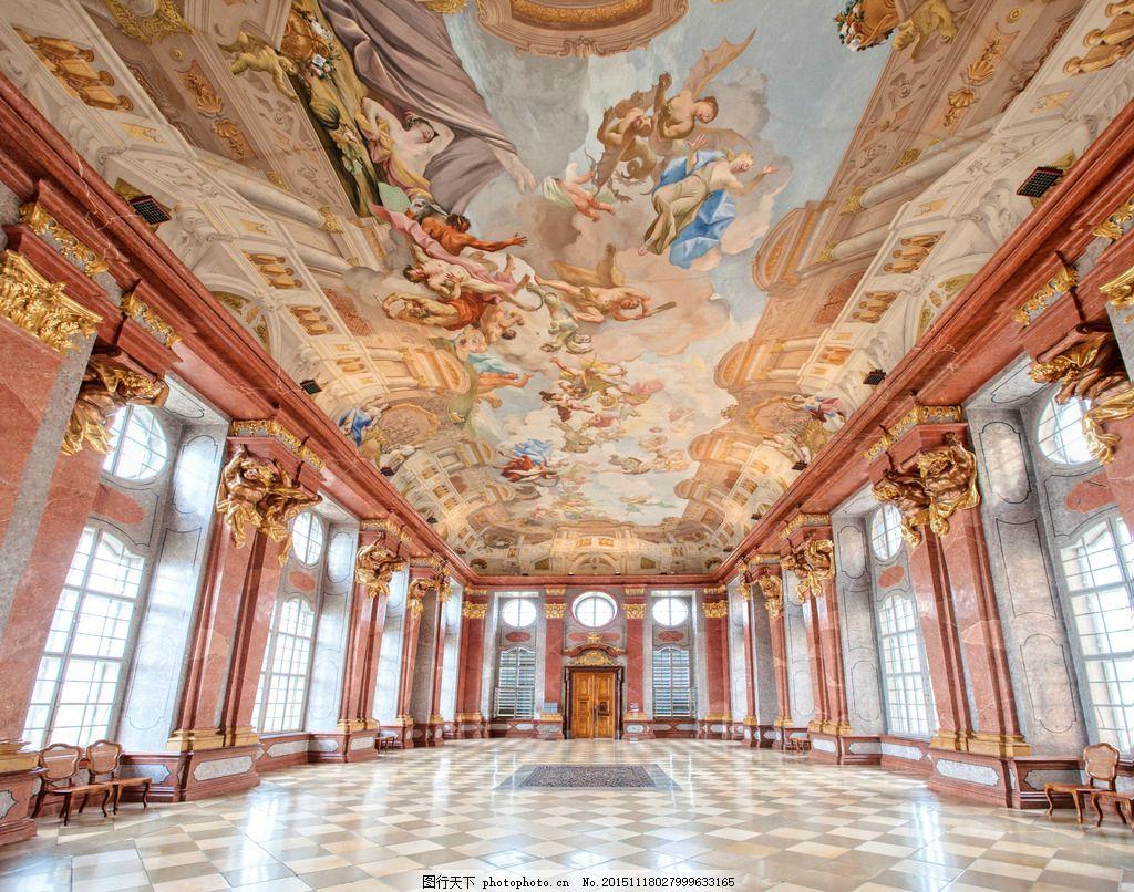 豪华欧式长廊 豪华欧式走廊 欧式宫殿 宗教 天顶画 设计图 欧式风格