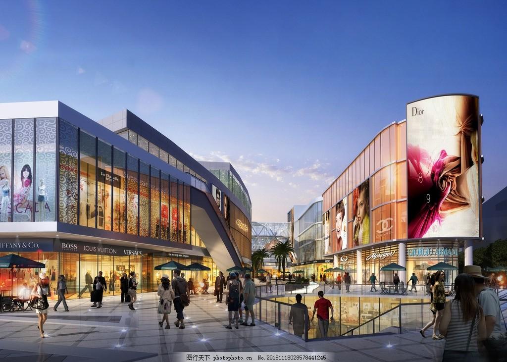 商场效果图 城市小区大门 城市效果图 城市广场 城市设计鸟瞰 规划
