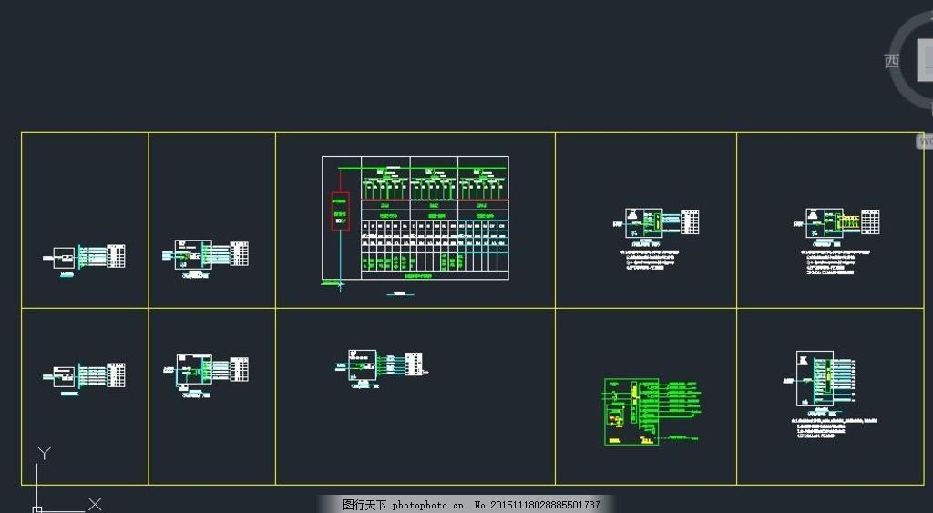 eps电源设计cad图样 电缆井 变频控制 强电系统 弱电系统 消防系统 配