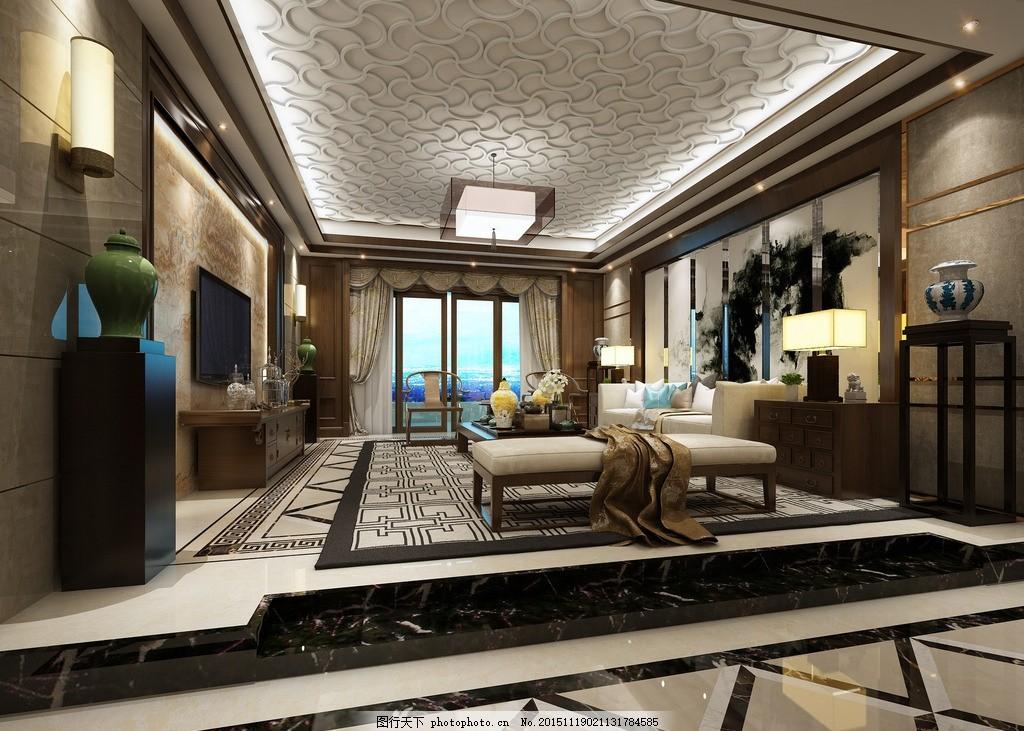 新中式客厅 新中式风格 奢华中式图片