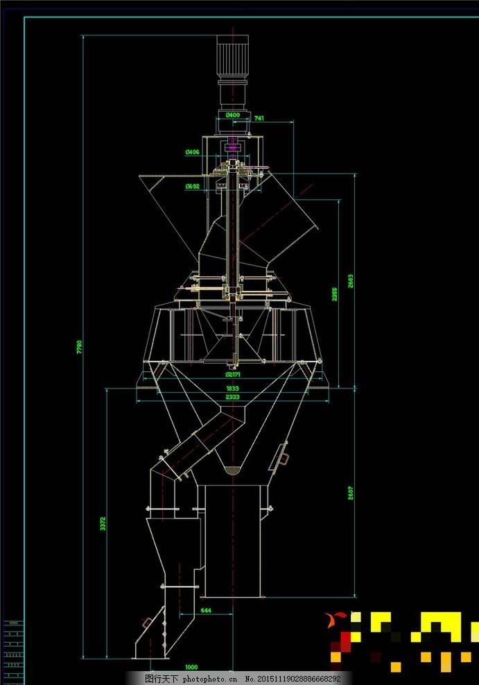 高效选粉机机械图纸