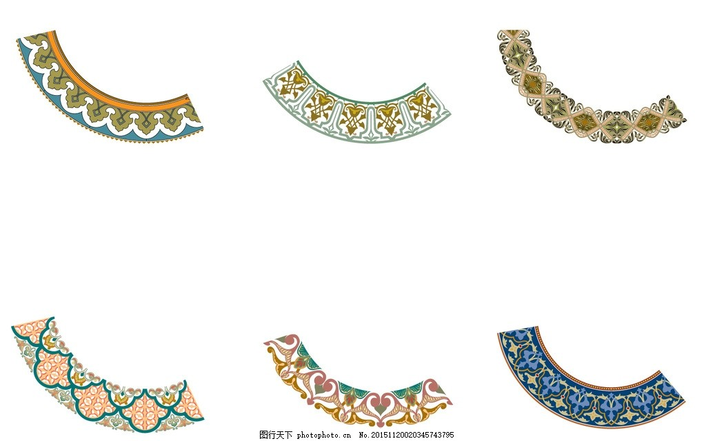 圆花 精美边框 边框花纹 拼花图案 欧式花纹 欧式复古边框 简约欧式