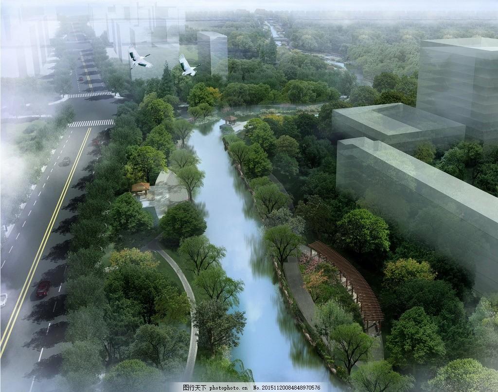 公园 游步道 栈道 滨水景观 河道整治        园林景观 景观设计 景观