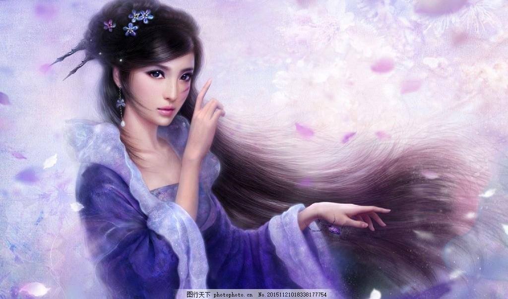 古装cg美女 古装美女 古典 手绘 游戏美女 周芷若 倚天屠龙记