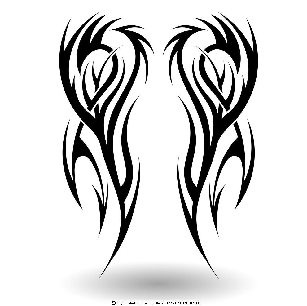 纹身 手绘 花纹 纹样 花边 纹身图案 矢量